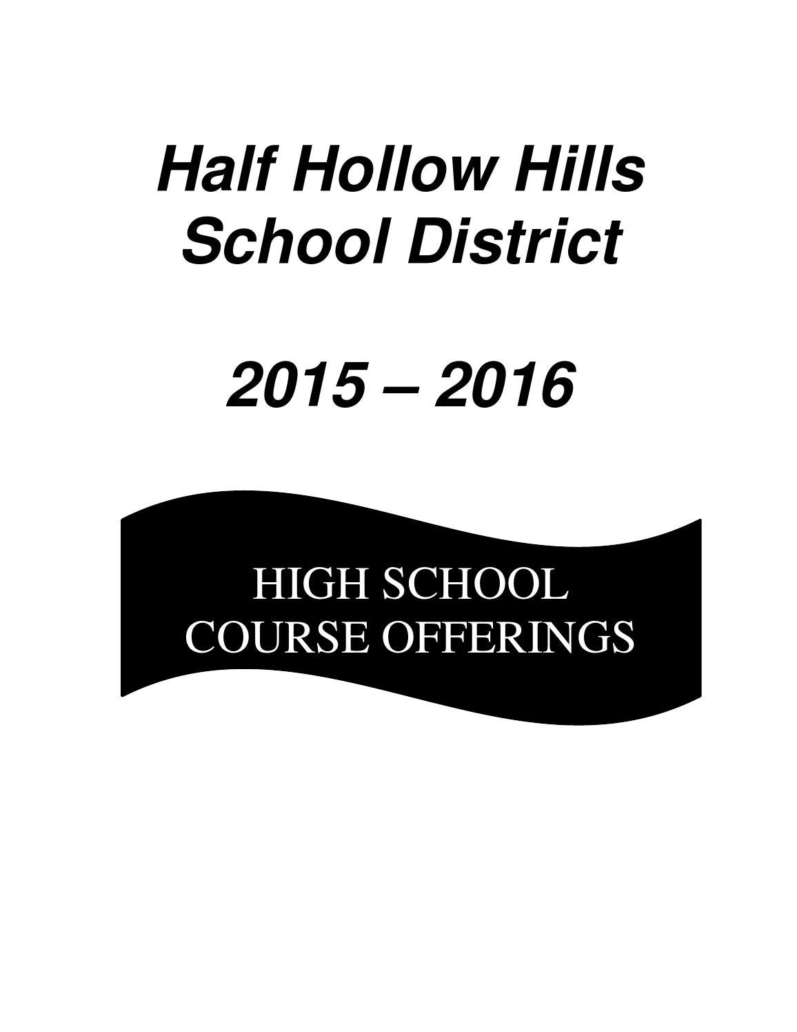 Final 2015 2016 course offering book 3 by Half Hollow