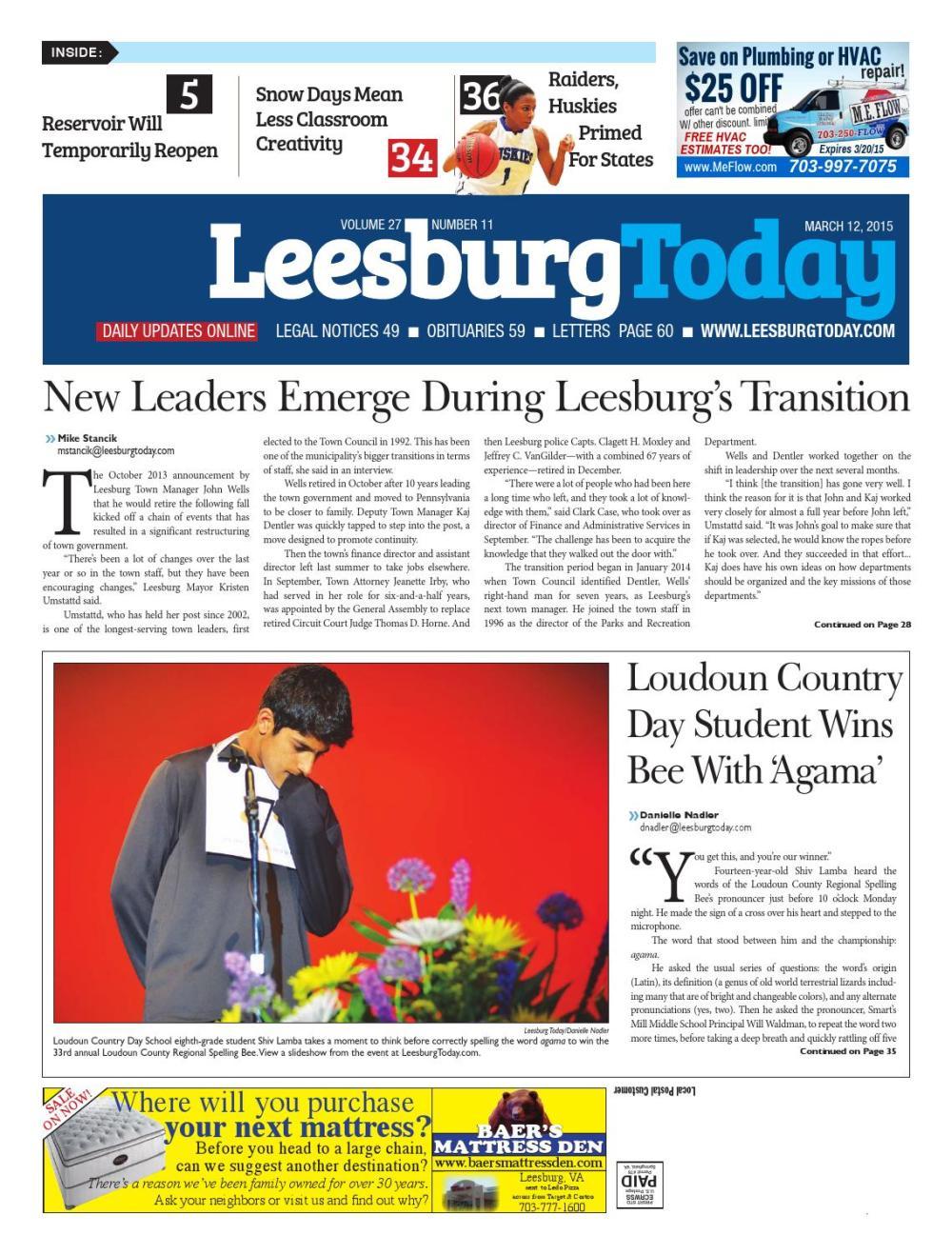 medium resolution of Leesburg Today