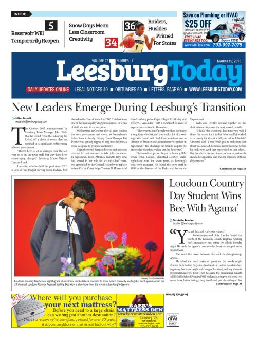small resolution of Leesburg Today