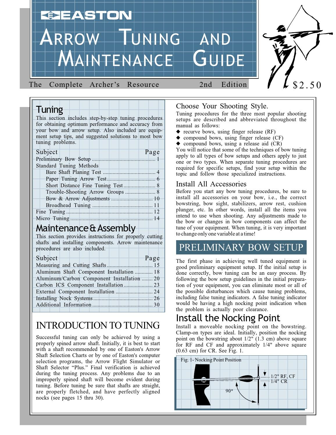 hight resolution of easton arrow tuning maintenance guide archery complete tuning guide by davy goedertier issuu