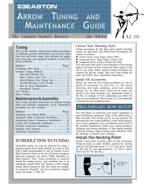 small resolution of easton arrow tuning maintenance guide archery complete tuning guide by davy goedertier issuu