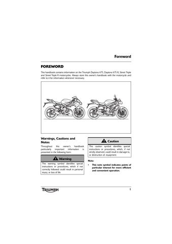 triumph street triple r wiring diagram two way lighting circuit owner s manual abs by mototainment ducati foreword this handbook contains information on the daytona 675 and motorcycles