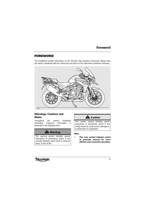 small resolution of owner s manual triumph tiger explorer xc abs by mototainment ducati triumph new york issuu