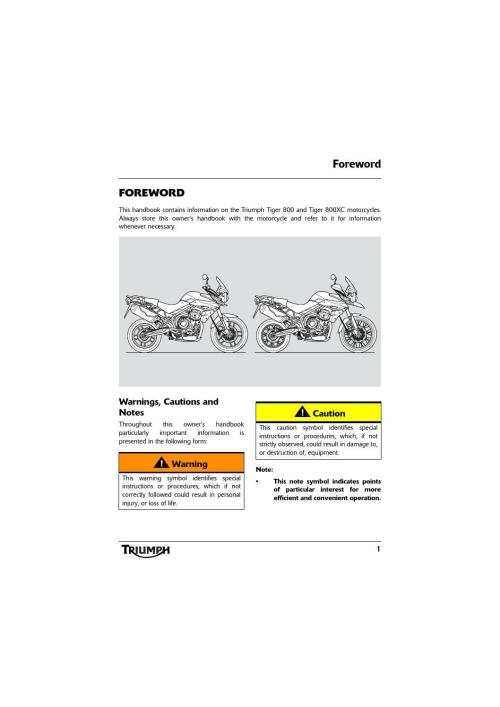 small resolution of owner s manual triumph tiger 800 xc by mototainment ducati triumph new york issuu