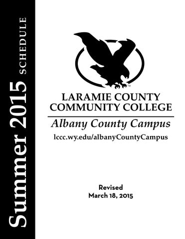 LCCC ACC Summer 2015 Credit Schedule by Stacy Shultz
