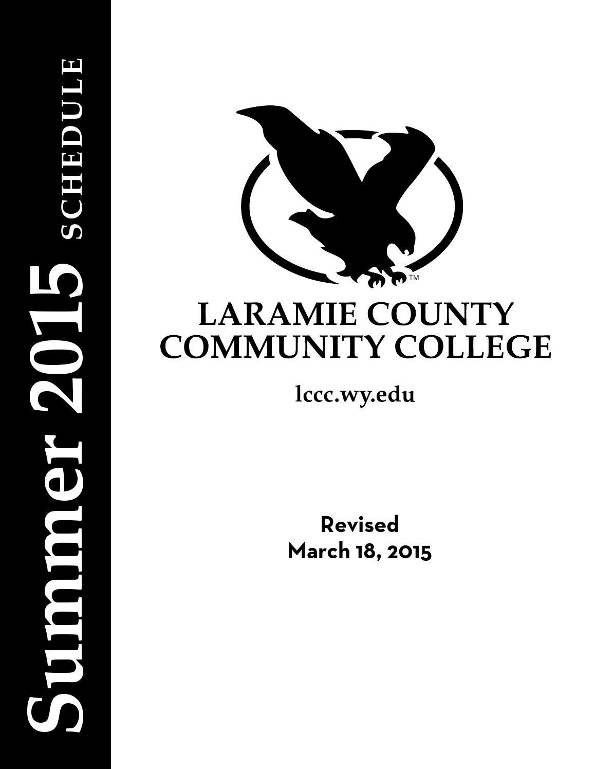 LCCC Summer 2015 Credit Schedule by Stacy Shultz-Bisset