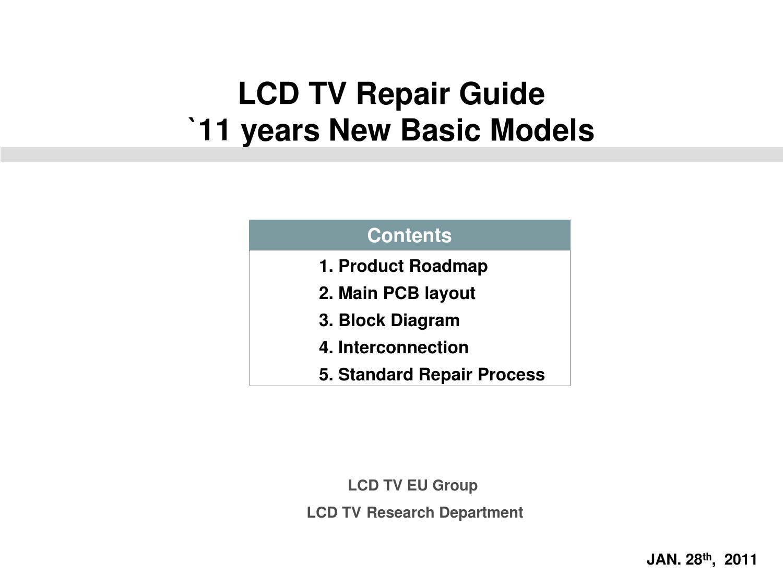hight resolution of tv repair diagram