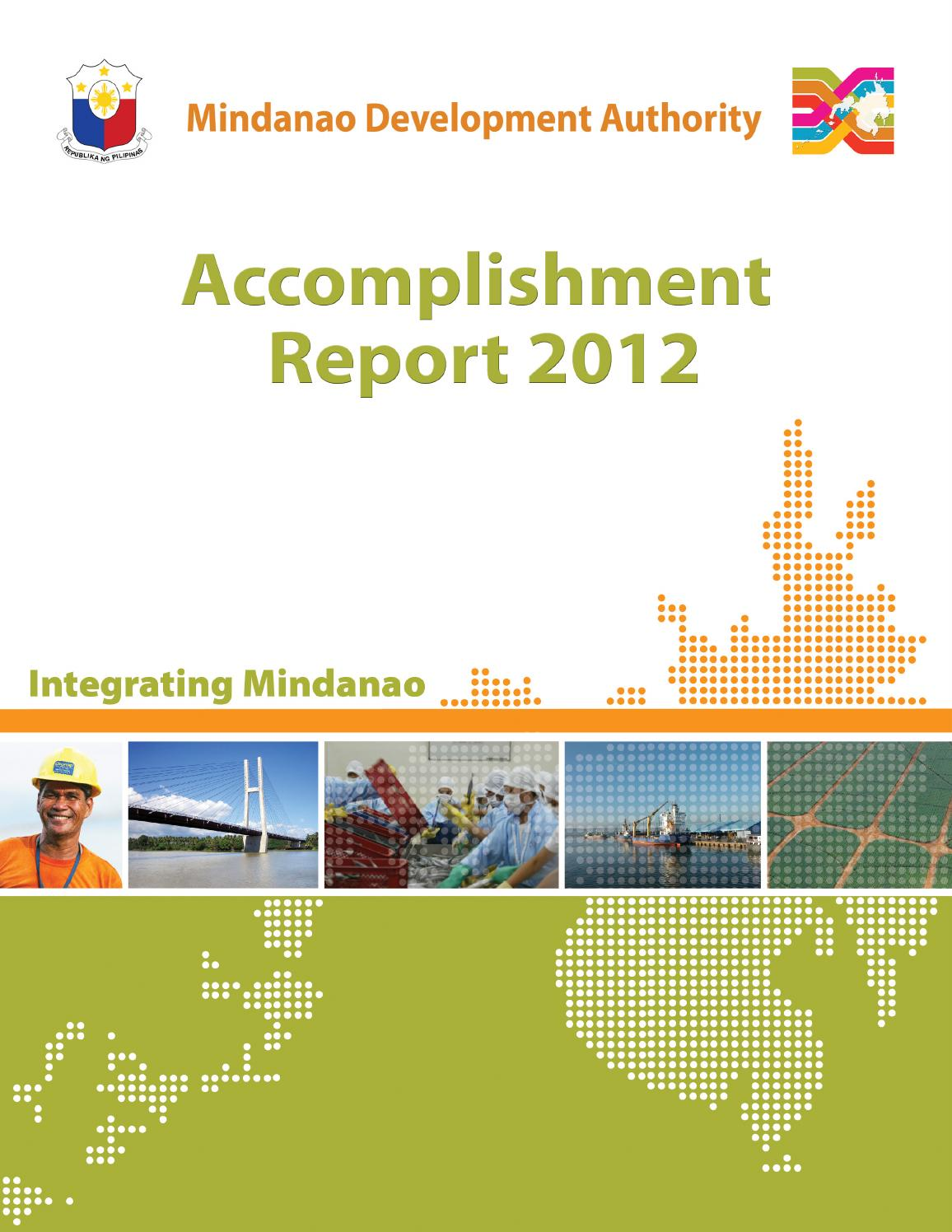 Minda Accomplishment Report 2012 By Mindanao Development Authority - Issuu