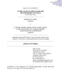 Appellant's Brief by The Amin Law Firm - Issuu
