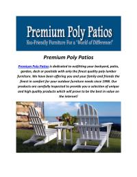 Premium Polywood Patio Furniture Sets by Premium Poly ...