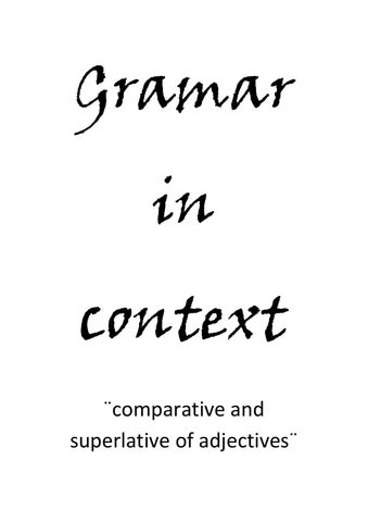 comparative and superlative of adjectives by gerson