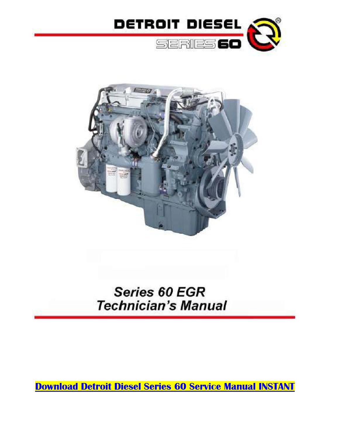 Detroit Diesel Series 60 Engine Diagram : detroit, diesel, series, engine, diagram, Detroit, Diesel, Series, Service, Manual, Karnakal, Issuu