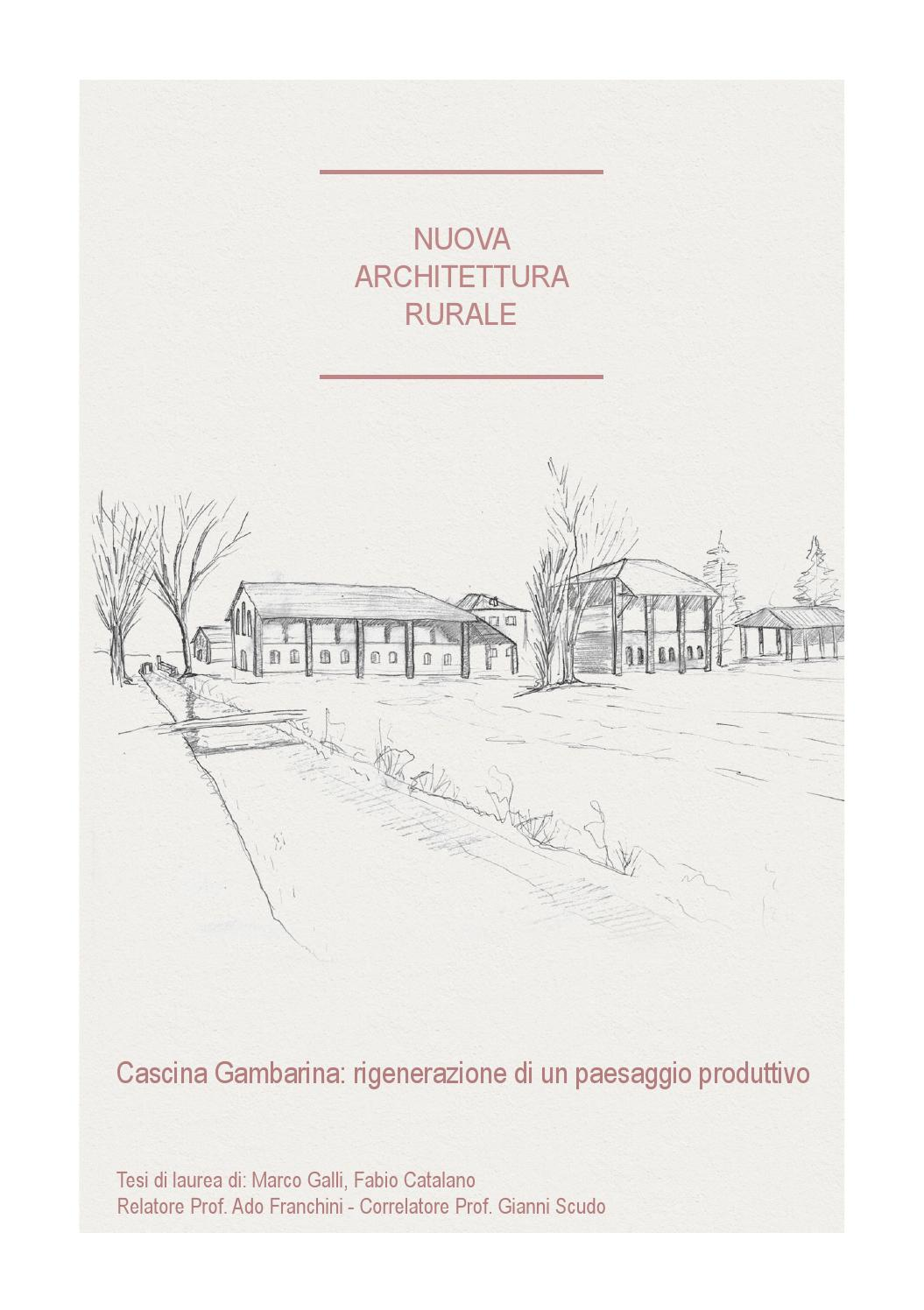 Nuova Architettura Rurale by Marco Galli  Issuu