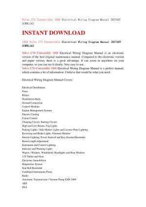 Volvo c70 convertible 1998 electrical wiring diagram manual instant download by jhsjenfns  Issuu