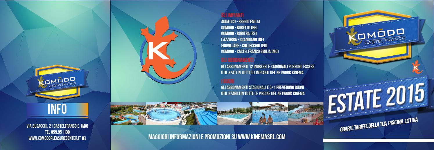 Komodo Castelfranco  prezzi e orari piscina estiva by