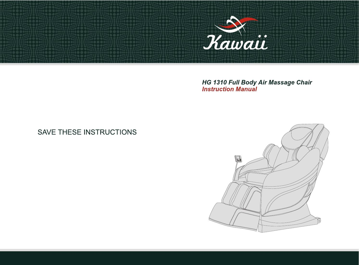 kawaii massage chair skyline furniture armless accent hg1310 instruction manual english by issuu