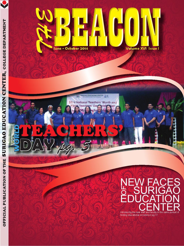 The Beacon June  October 2014 by Surigao Education