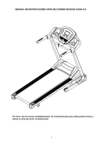 Manual cinta de correr Diadora Audio 6.9 by Greenfit