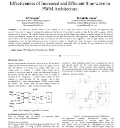 effectiveness of increased and efficient sine wave in pwm architecture by international journal for trends in engineering and technology issuu [ 1156 x 1496 Pixel ]