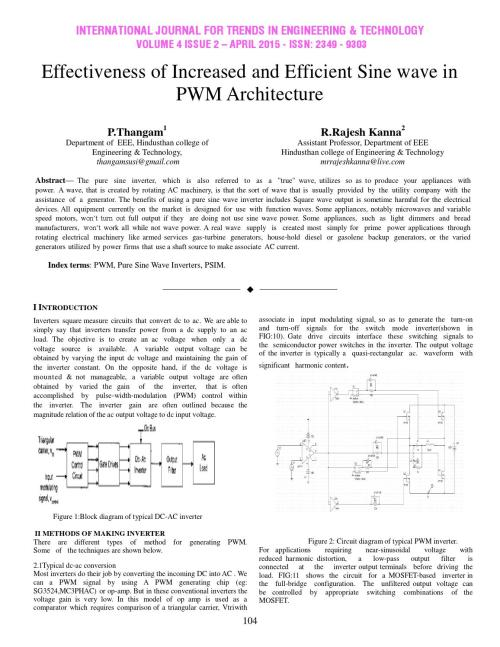 small resolution of effectiveness of increased and efficient sine wave in pwm architecture by international journal for trends in engineering and technology issuu