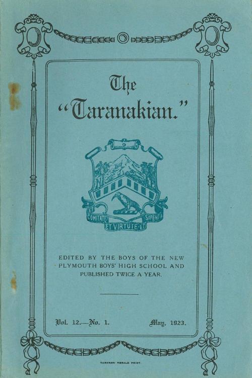 small resolution of 1923 the taranakian vol 12 no 1 may