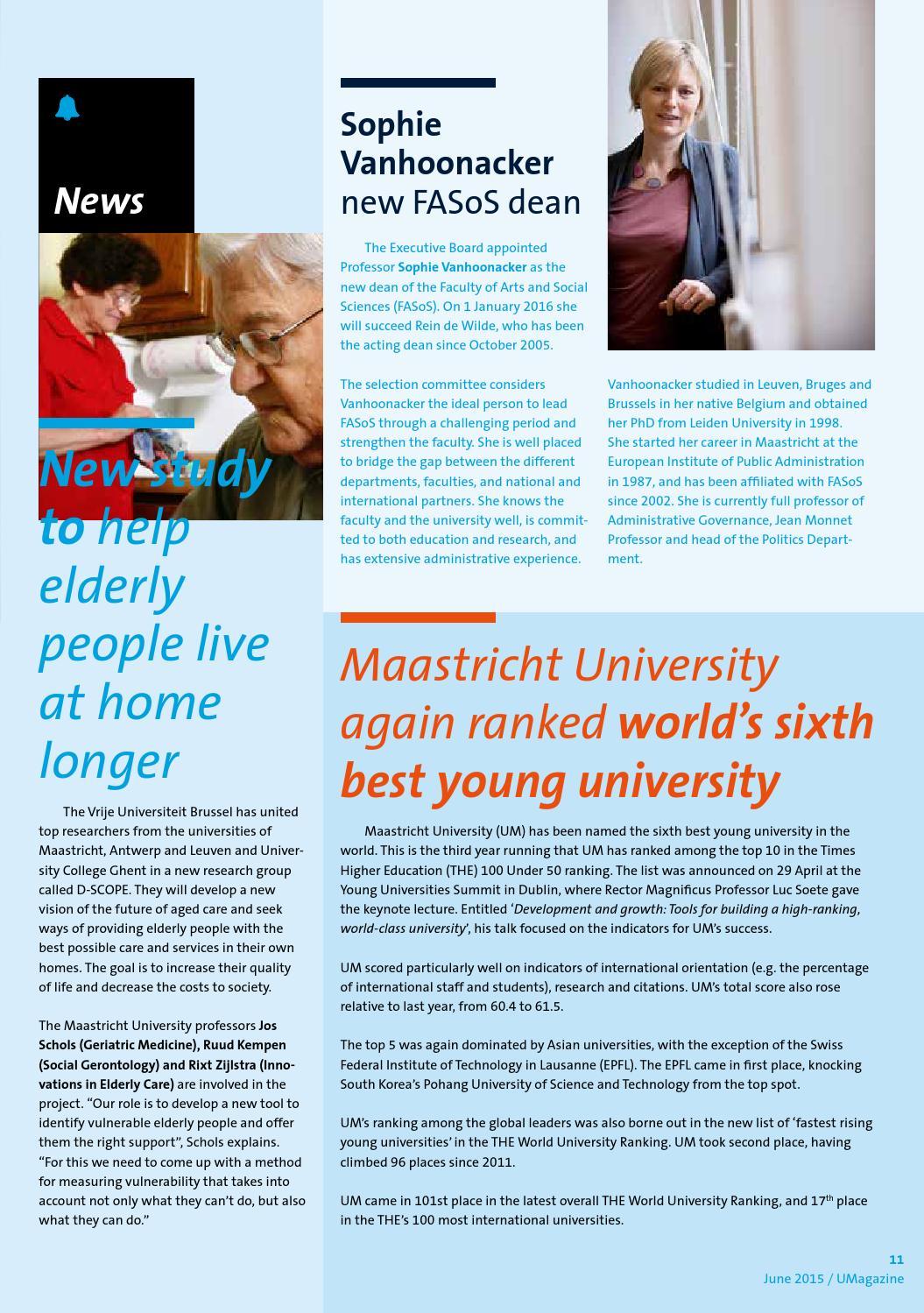 Um Magazine June 2015 By Maastricht University Issuu
