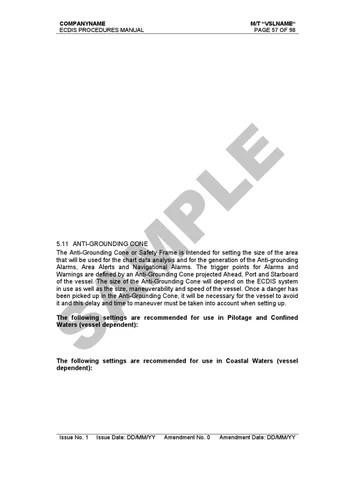 Ecdis procedures manual sample by Alpha Marine Consulting