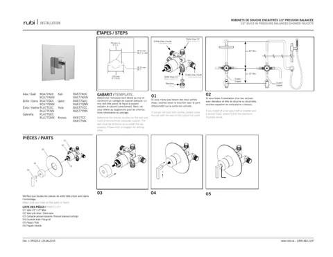 DR023-3 manuel d'installation / installation manual by