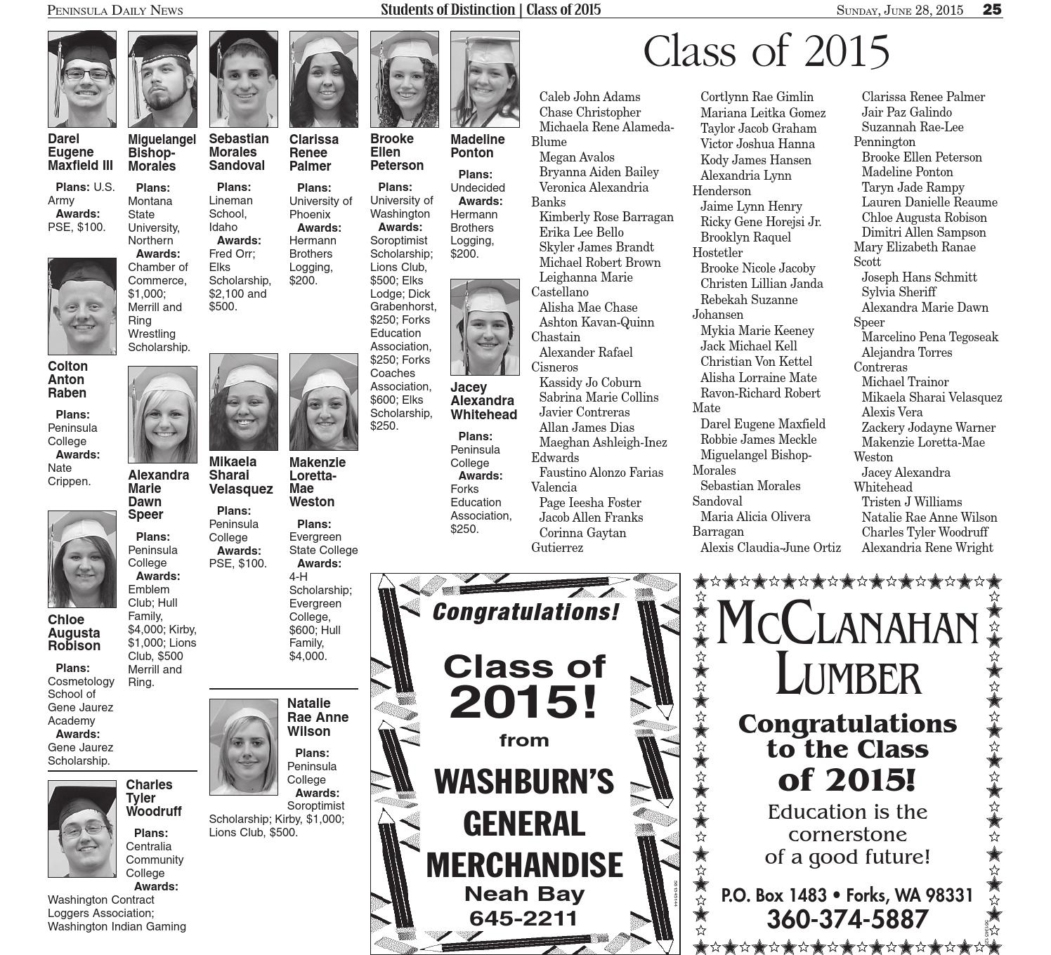 Students of Distinction; Class of 2015 by Peninsula Daily