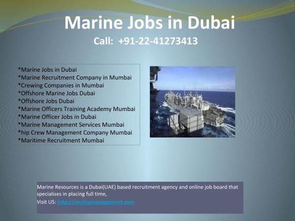 Maritime Recruitment Mumbai Offshore Marine Jobs Dubai