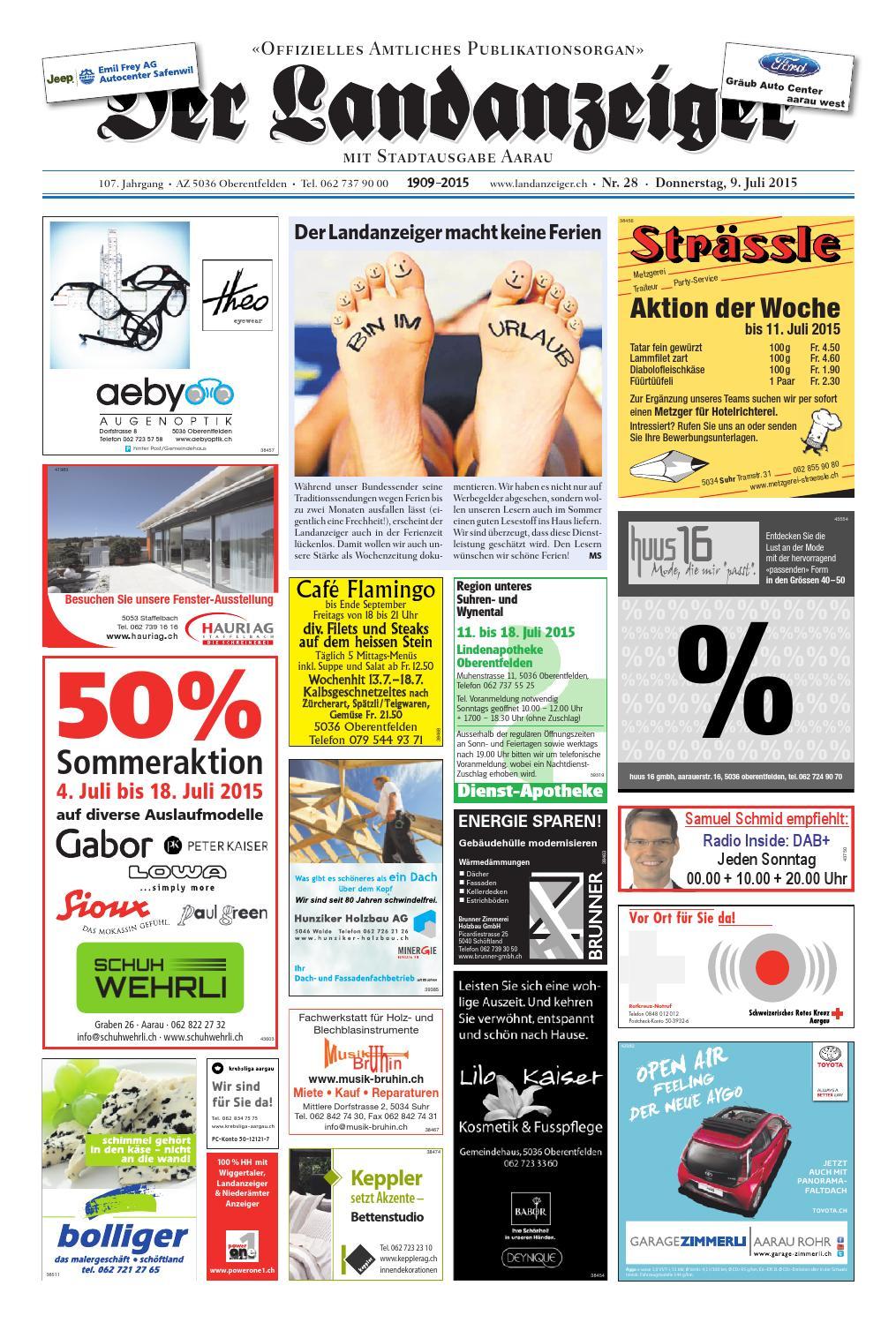 Der Landanzeiger 28/15 By Zt Medien Ag - Issuu