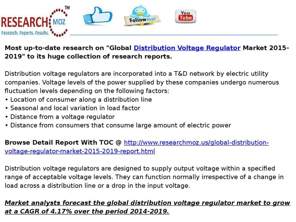 medium resolution of global distribution voltage regulator market 2015 2019