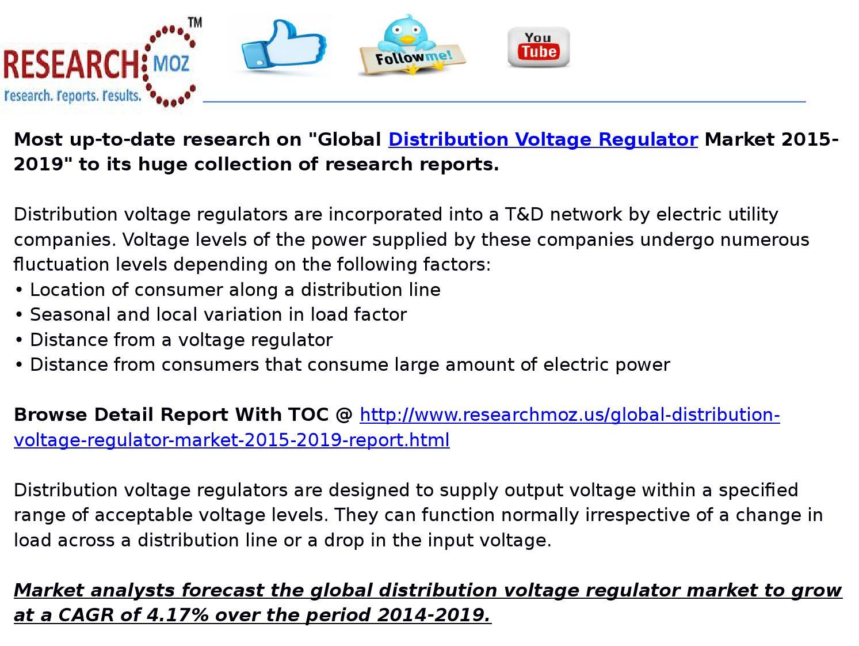 hight resolution of global distribution voltage regulator market 2015 2019