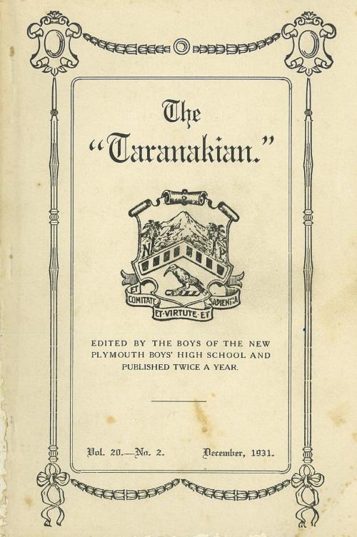 small resolution of 1931 the taranakian vol 20 no 2 december