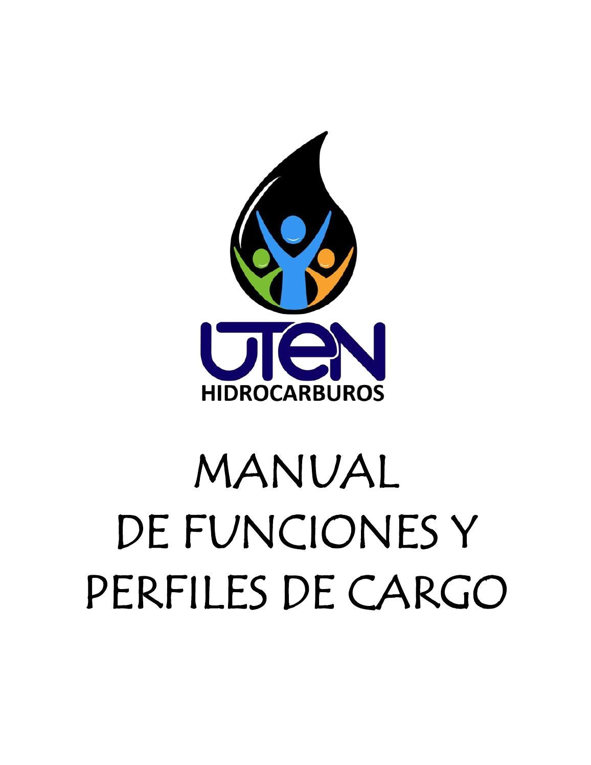 Manual de funciones y perfiles de cargo UTEN hidrocarburos