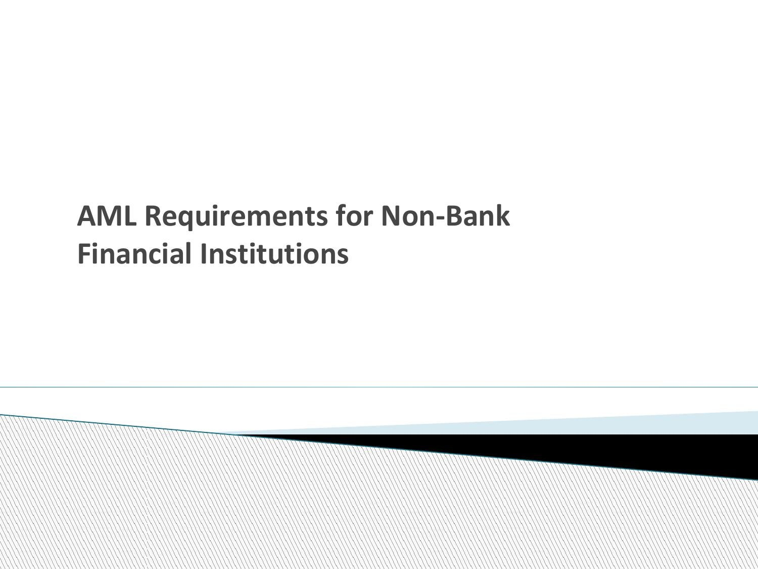 Aml non bank finanacial institutions by compliance online