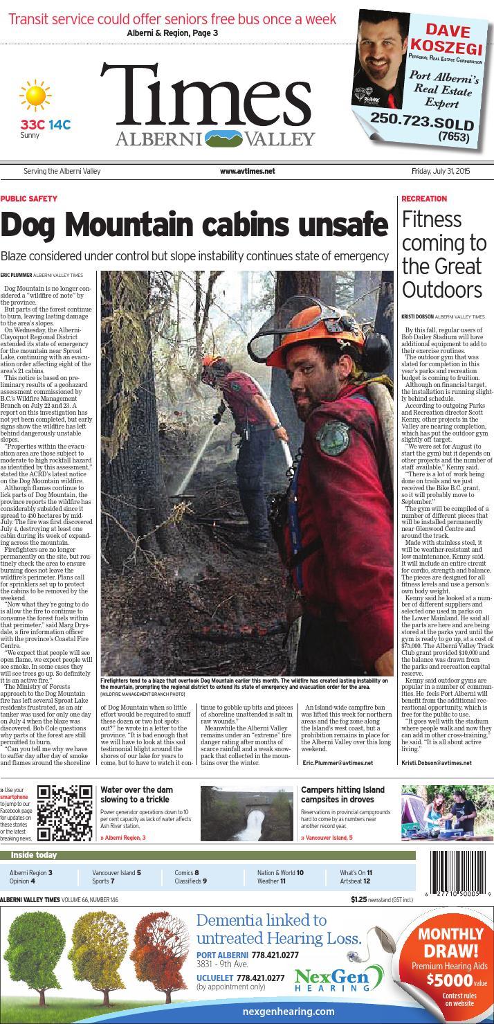 Alberni Valley Times July 31 2015 By Black Press Issuu