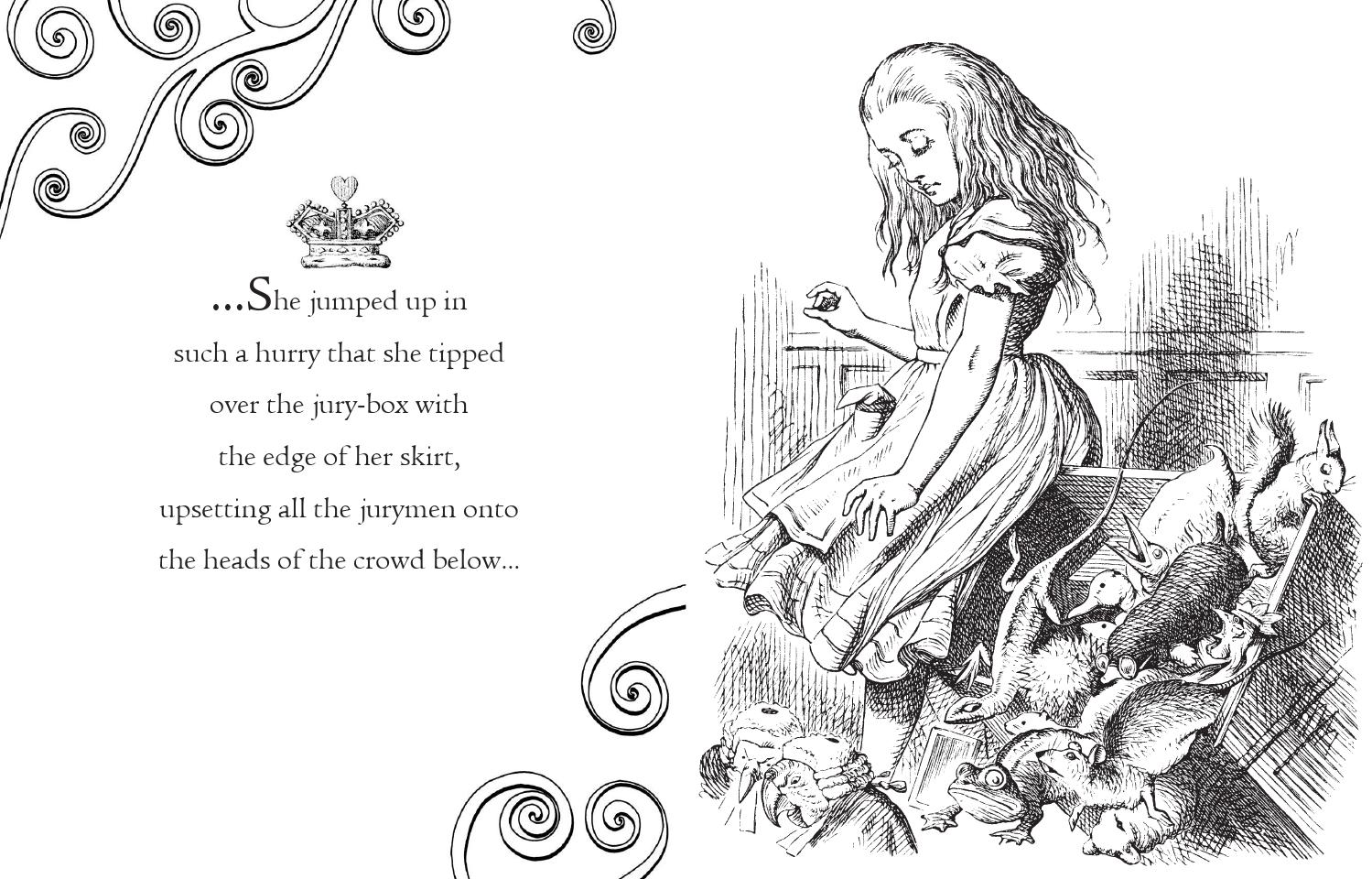 Alice's Adventures in Wonderland Colouring Book by
