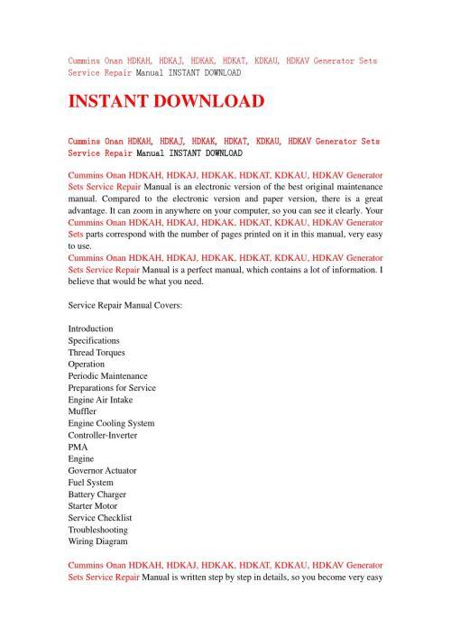 small resolution of cummins onan hdkah hdkaj hdkak hdkat kdkau hdkav generator sets service repair manual instant d by jshenfn67dd issuu
