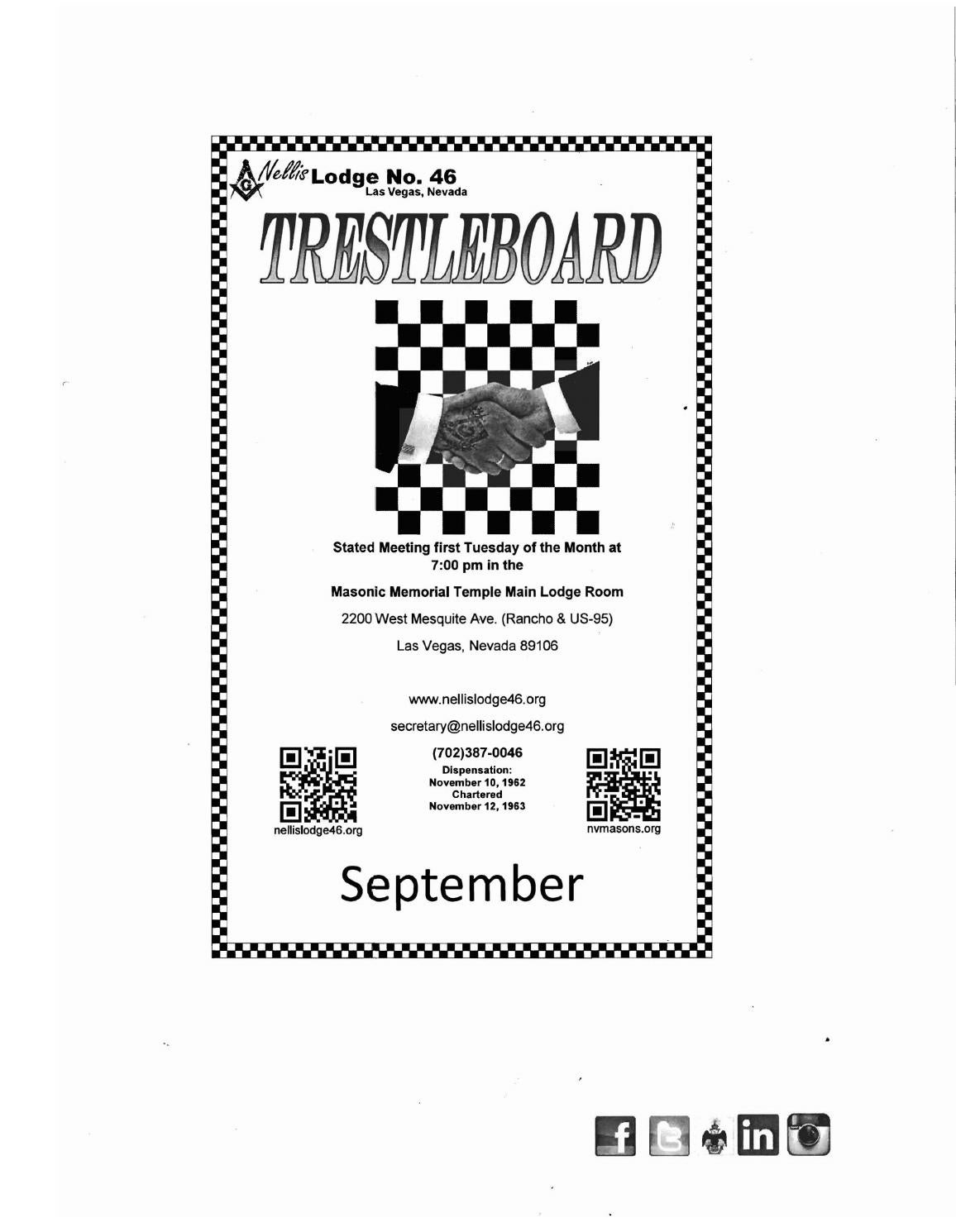 September 2015 trestleboard email version by Nellis Lodge