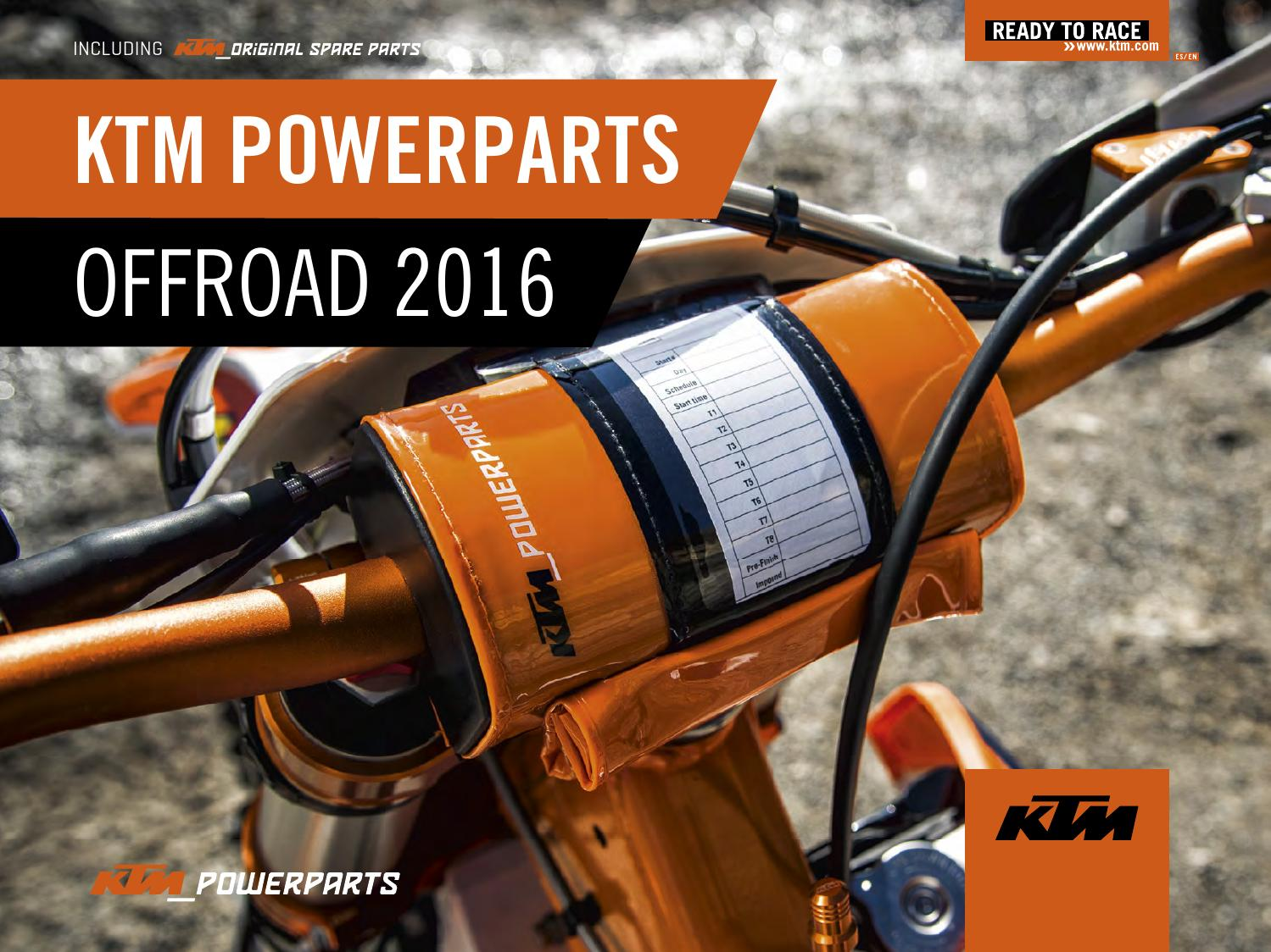 hight resolution of ktm powerparts offroad catalog 2016 english espanol by ktm group issuu
