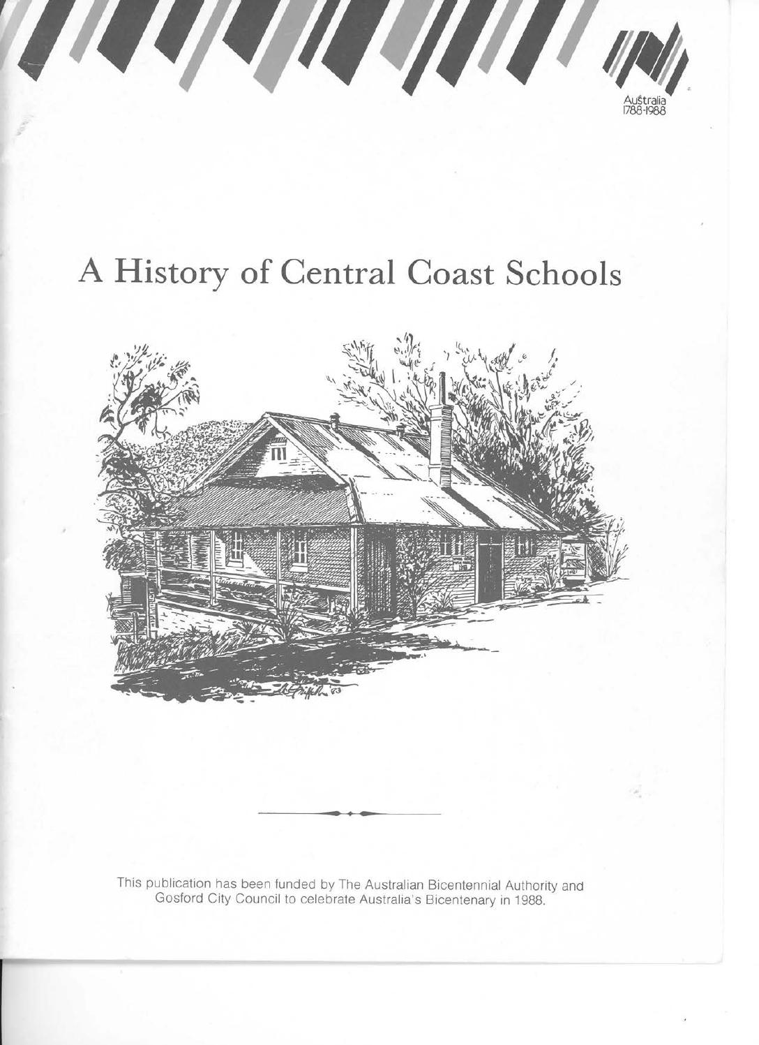A History of Central Coast Schools by Central Coast