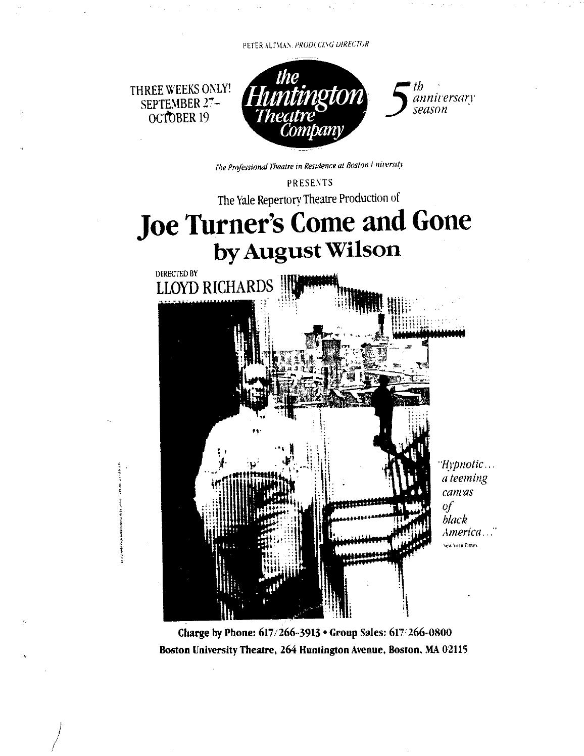 JOE TURNER'S COME AND GONE curriculum guide by Huntington
