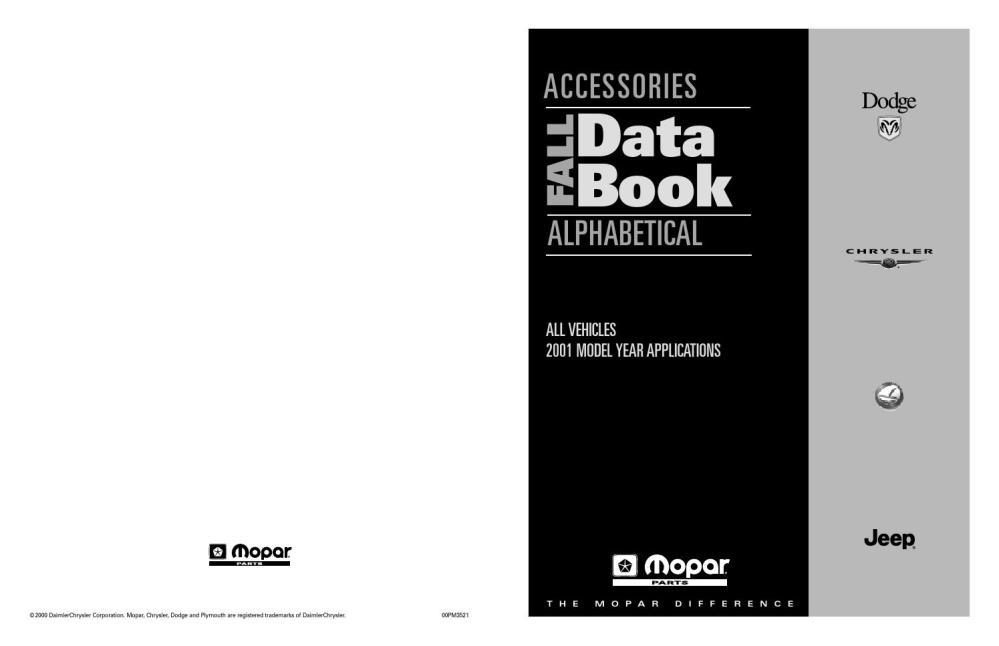 medium resolution of mopar 2001 accessories data book