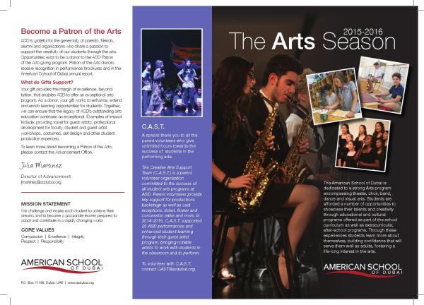 2015-2016 Arts Brochure American School Of Dubai - Issuu