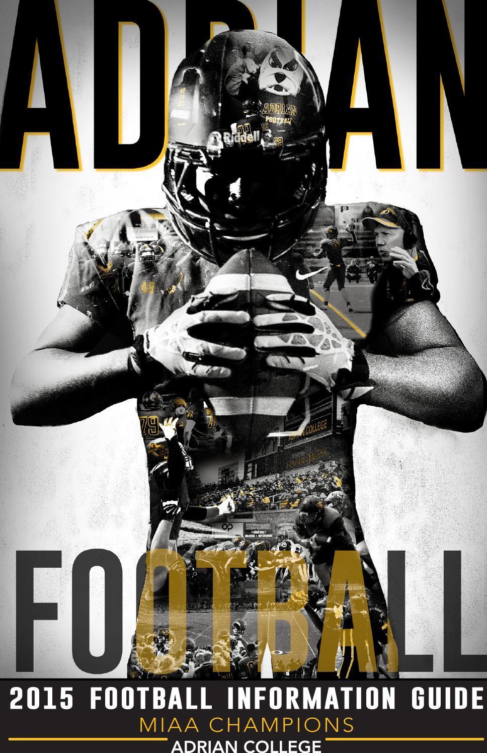 2015 Adrian College Football Media Guide by Adrian Sports Info  Issuu