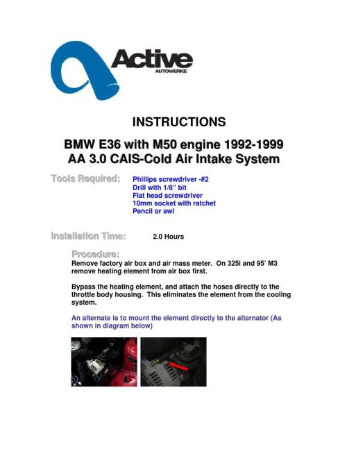 small resolution of bmw e36 m50 cold air intake systems by activeautowork issuu