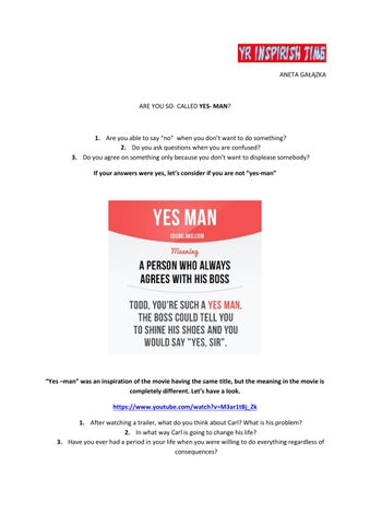 yes man lesson by