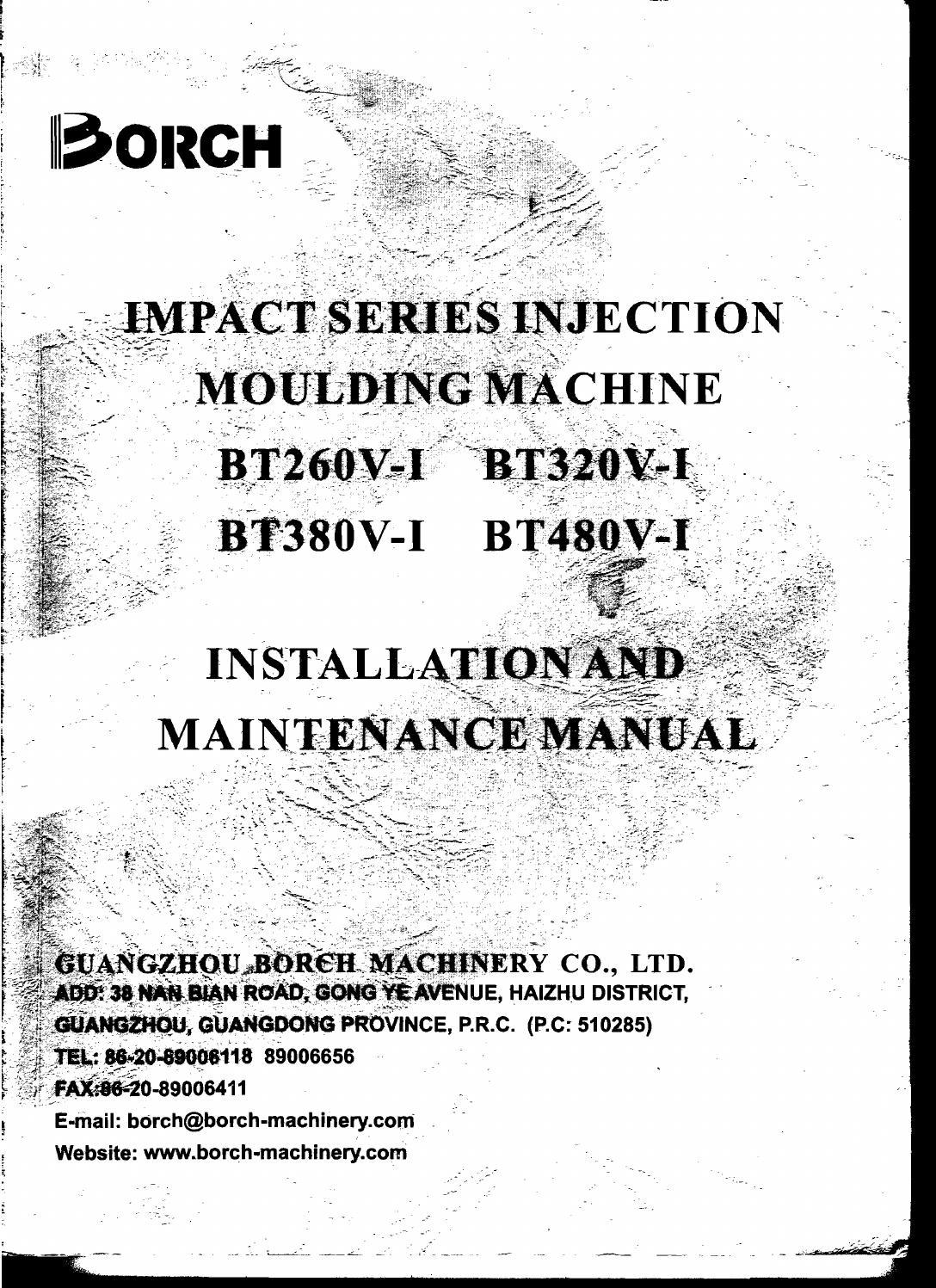 Borche installation and maintenance manual by Turan