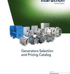 marathon generator selection and pricing catalog [ 1156 x 1496 Pixel ]